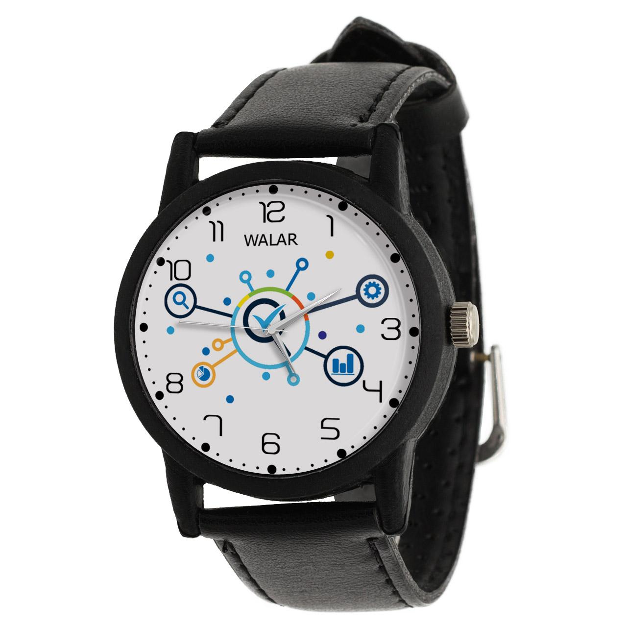 کد تخفیف                                      ساعت مچی عقربه ای والار طرح کنترل کیفیت کد LF2862