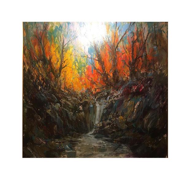 خرید                      تابلو نقاشی رنگ روغن مدل منظره پاییزی کد ARP21