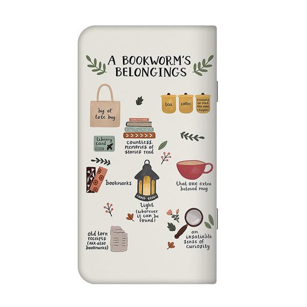 تقویم جیبی سال 1399 چاپ شفق طرح a bookworm's belongings کد ۳۳۱
