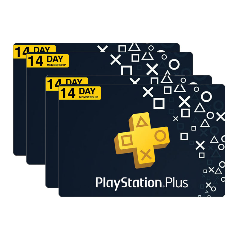 گیفت کارت 14 روزه پلی استیشن پلاس کد 1400 بسته 1000 عددی