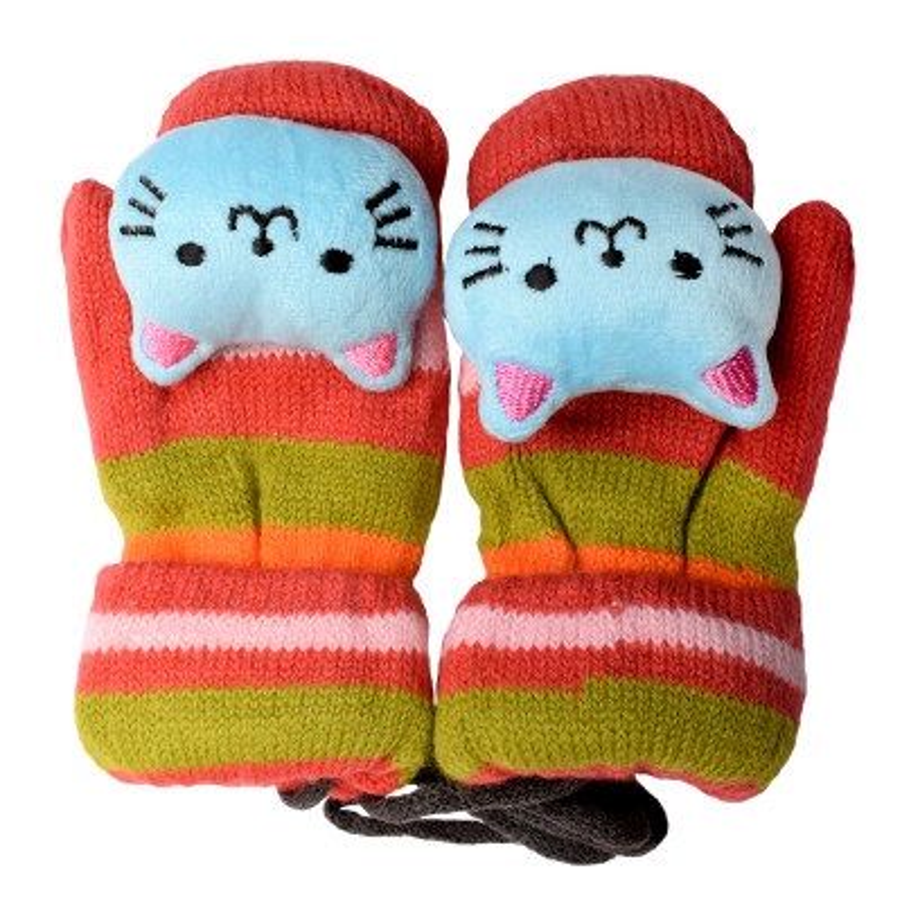 دستکش بافتنی طرح گربه کد K-3405