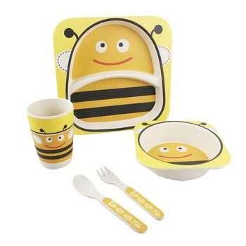 ظرف غذای 5 تکه کودک طرح زنبور عسل کد 3003
