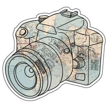 استیکر لپ تاپ طرح دوربین عکاسی کد L-127