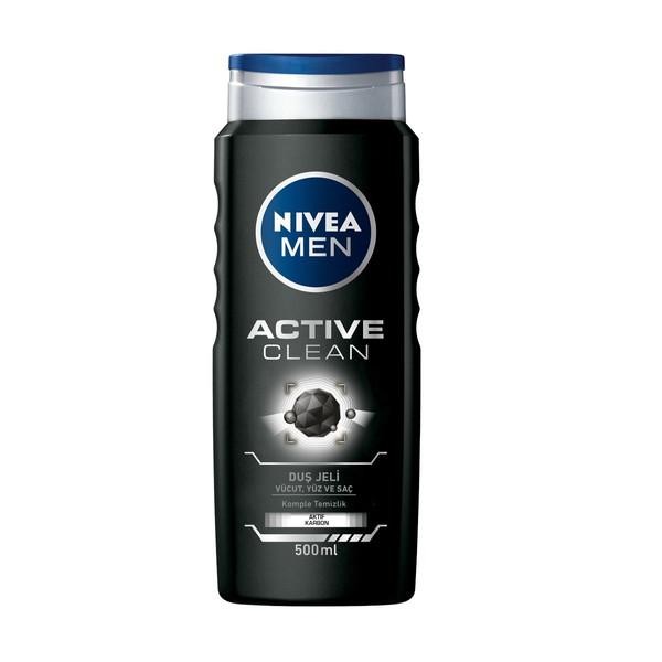 شامپو مو و بدن نیوآ مدل Active Clean حجم 500 میلی لیتر