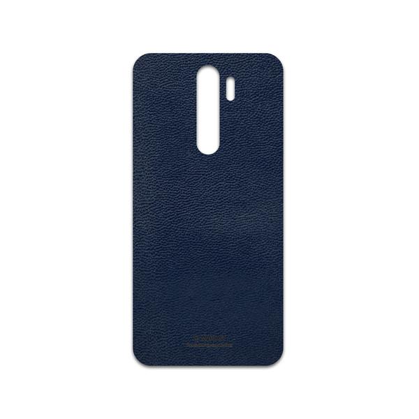 برچسب پوششی ماهوت مدل Deep-Blue-Leather مناسب برای گوشی موبایل شیائومی Redmi Note 8 Pro