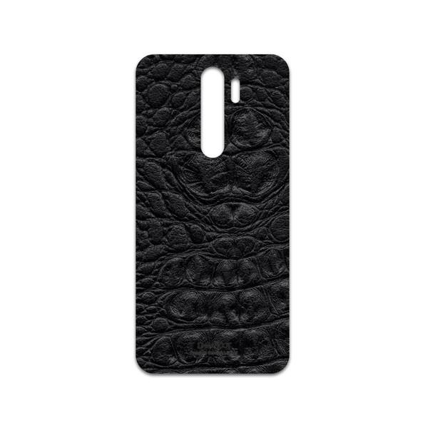 برچسب پوششی ماهوت مدل Black-Crocodile-Leather مناسب برای گوشی موبایل شیائومی Redmi Note 8 Pro