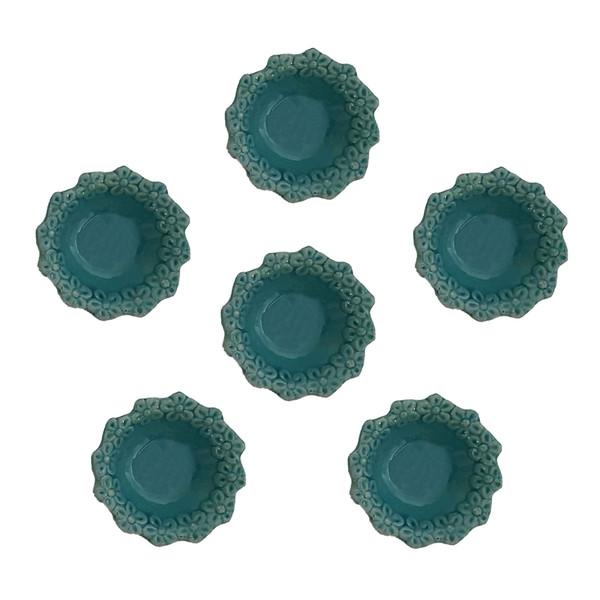 مجموعه ظروف هفت سین 6 پارچه مدل flower01