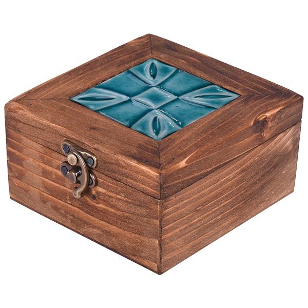 خرید                      جعبه هدیه مدل گل چهارپر کد 20-10