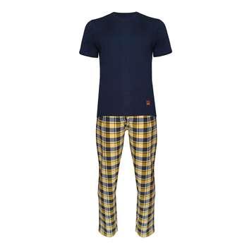 ست تی شرت و شلوار مردانه مدل طه کد 991021 رنگ سرمه ای