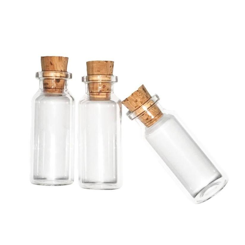 بطری دکوری مدل شیشه ای بسته 3 عددی