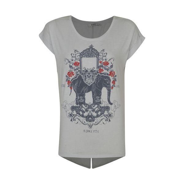تی شرت زنانه کالینز مدل CL1033142-LIGHTBLUE