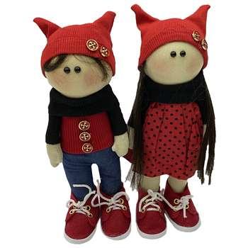 عروسک طرح دختر پسر روسیمجموعه 2 عددی ارتفاع 27 سانتی متر