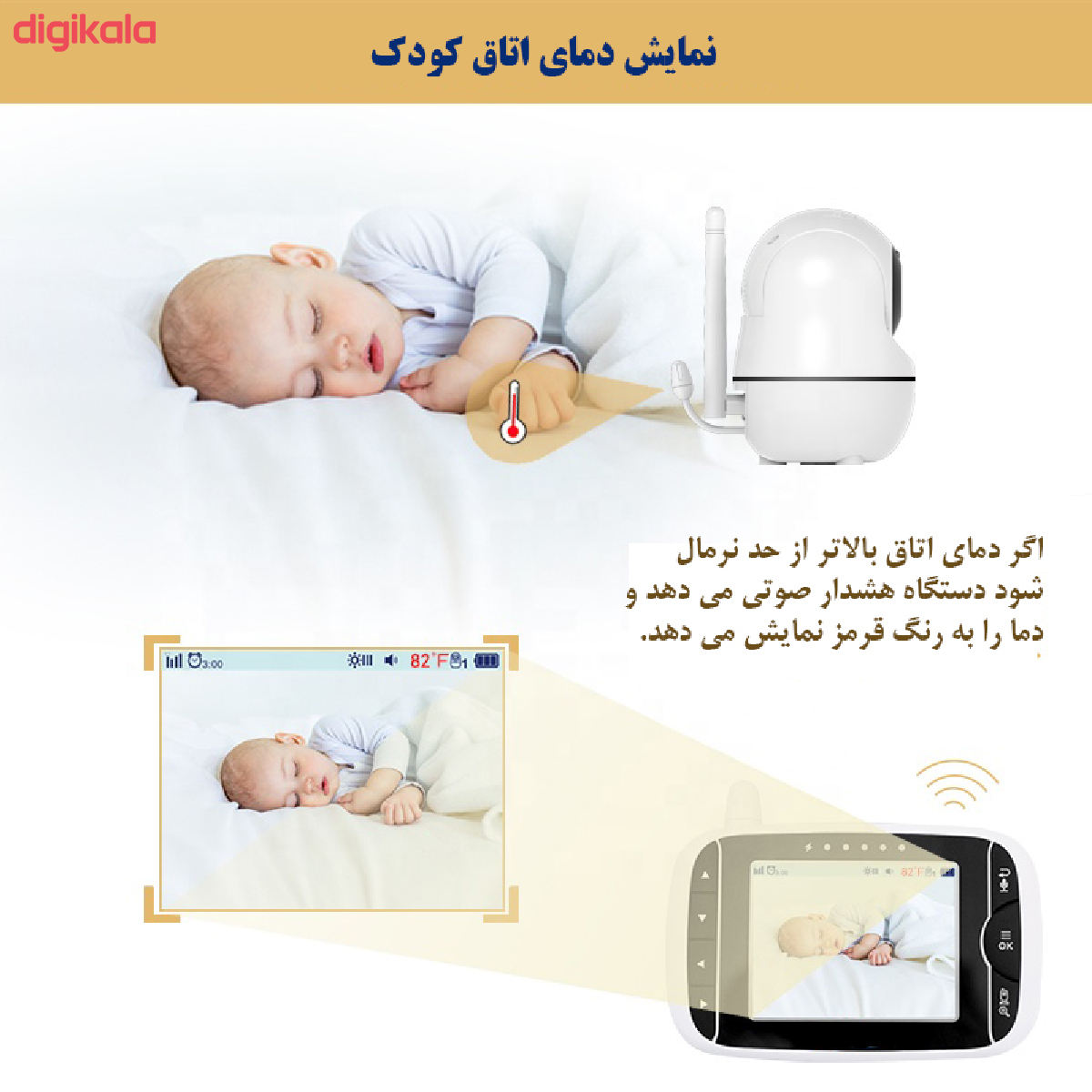 دوربین کنترل کودک هلوبیبی مدل HB66 main 1 3