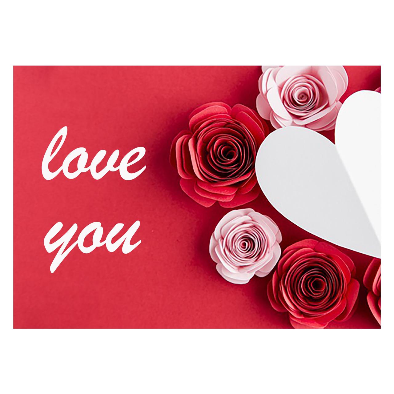 کارت پستال ماهتاب طرح love عشق کد 1903