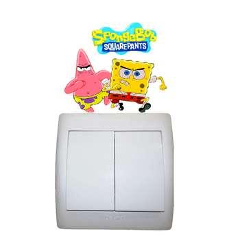 استیکر مستر راد مدل باب اسفنجی و پاتریک کد 003 SpongeBob