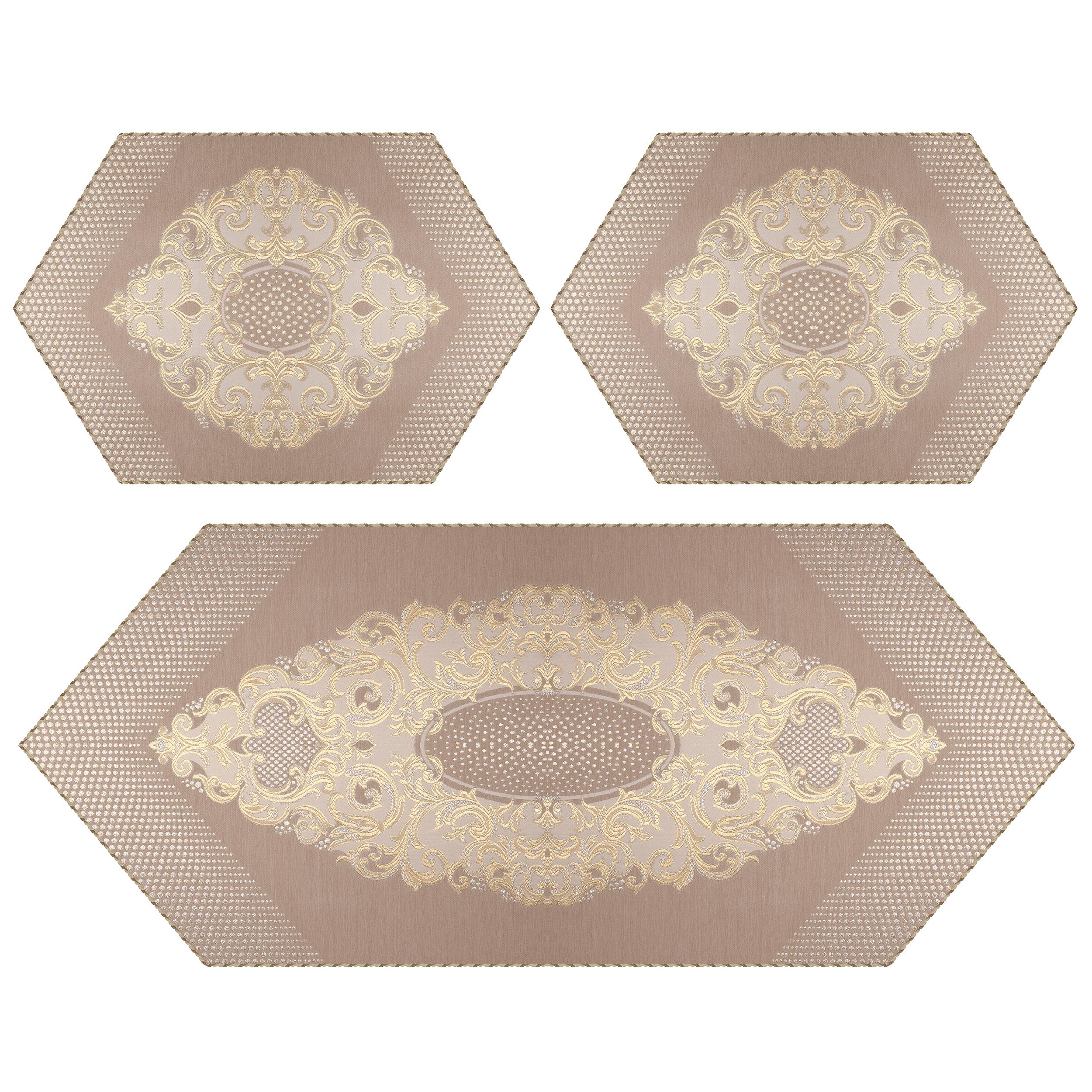 ست رومیزی سه تکه مدل سوین