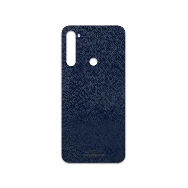 برچسب پوششی ماهوت مدل Deep-Blue-Leather مناسب برای گوشی موبایل شیائومی Redmi Note 8