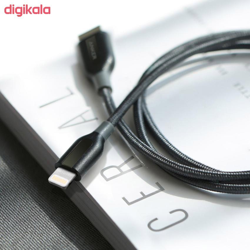 کابل تبدیل USB به لایتنینگ انکر مدل A8122 PowerLine Plus طول 1.8 متر main 1 10