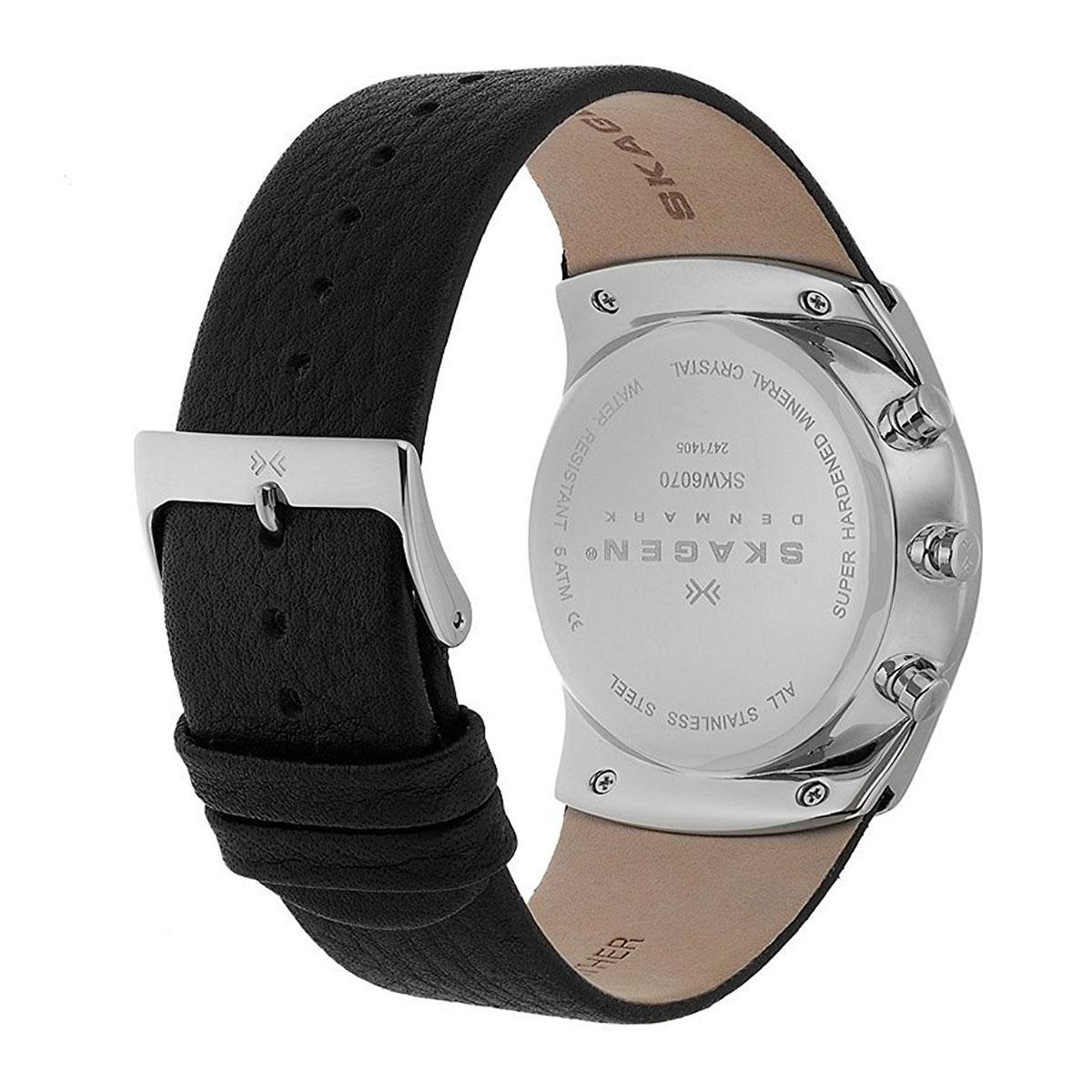ساعت مچی عقربه ای مردانه اسکاژن دانمارک مدل SKW6070