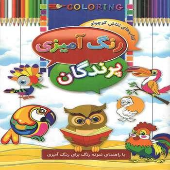 کتاب رنگ آمیزی پرندگان اثر ابوالفضل سلطانی انتشارات آتیسا