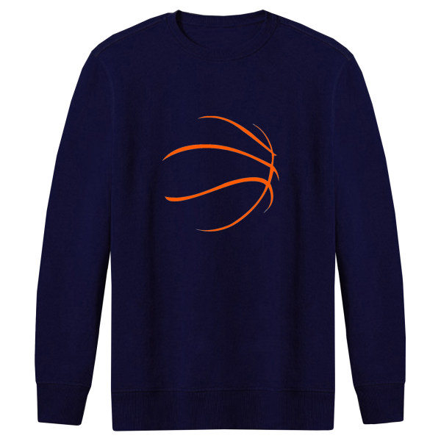 سویشرت مردانه طرح توپ بسکتبال کد FN270 رنگ سرمه ای