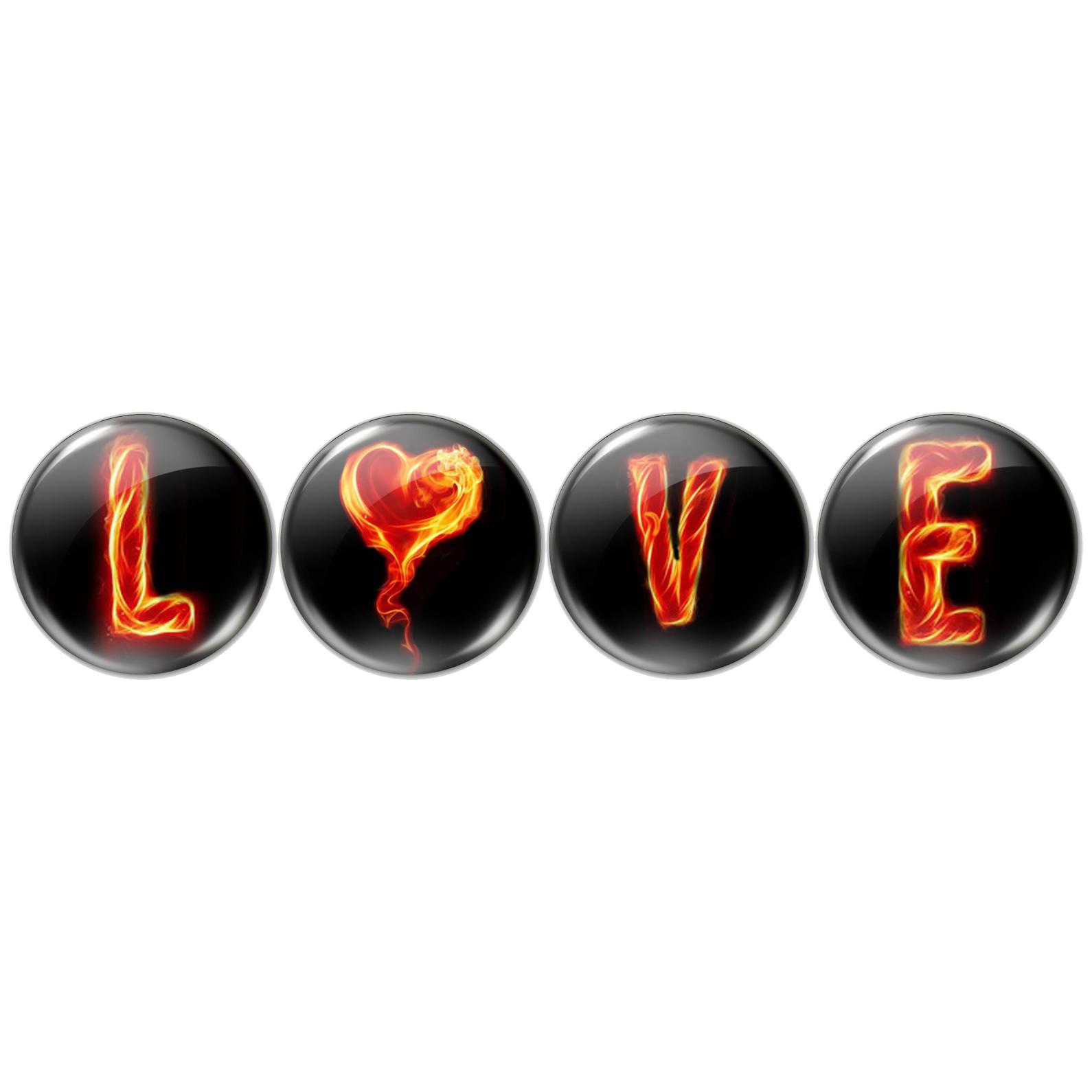 مگنت طرح love کد  m24050 مجموعه 4 عددی