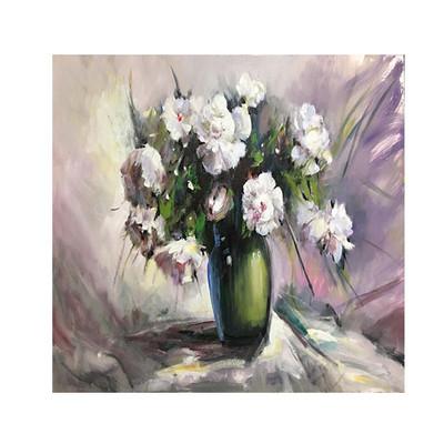Photo of تابلو نقاشی رنگ روغن مدل گلدان گل کد ARP20