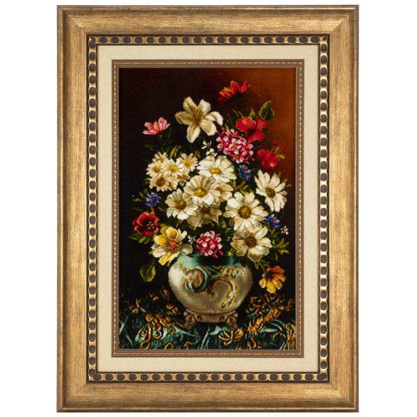 تابلو فرش دستباف سی پرشیا طرح گل با گلدان کد 901822