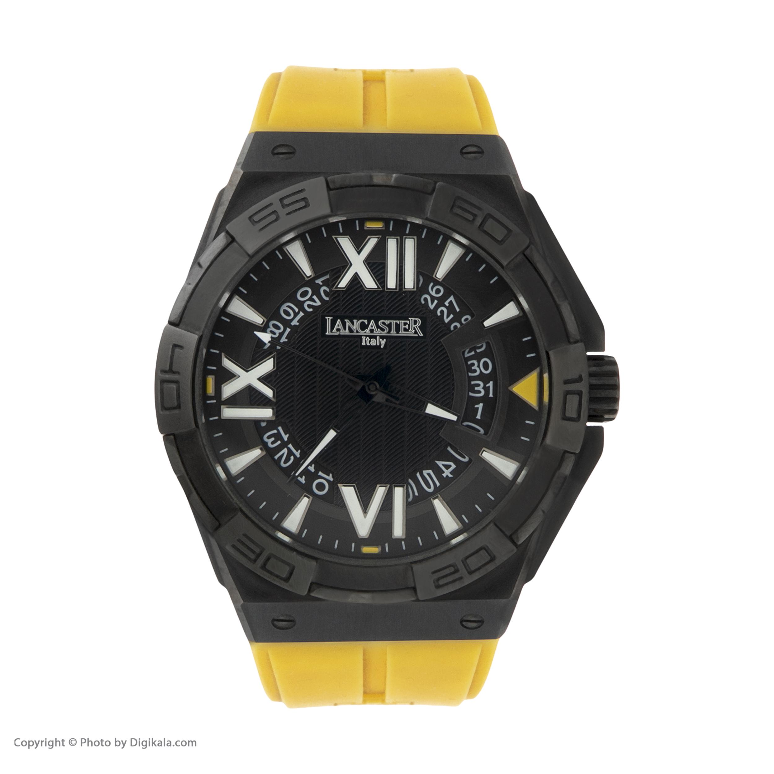 ساعت مچی عقربه ای مردانه لنکستر مدل 622BKNRGL کد 59