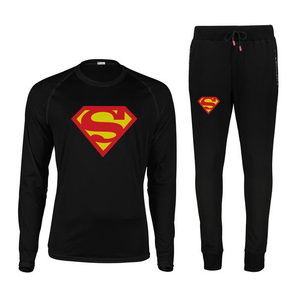ست تیشرت و شلوار مردانه پاتیلوک طرح سوپرمن کد 40001