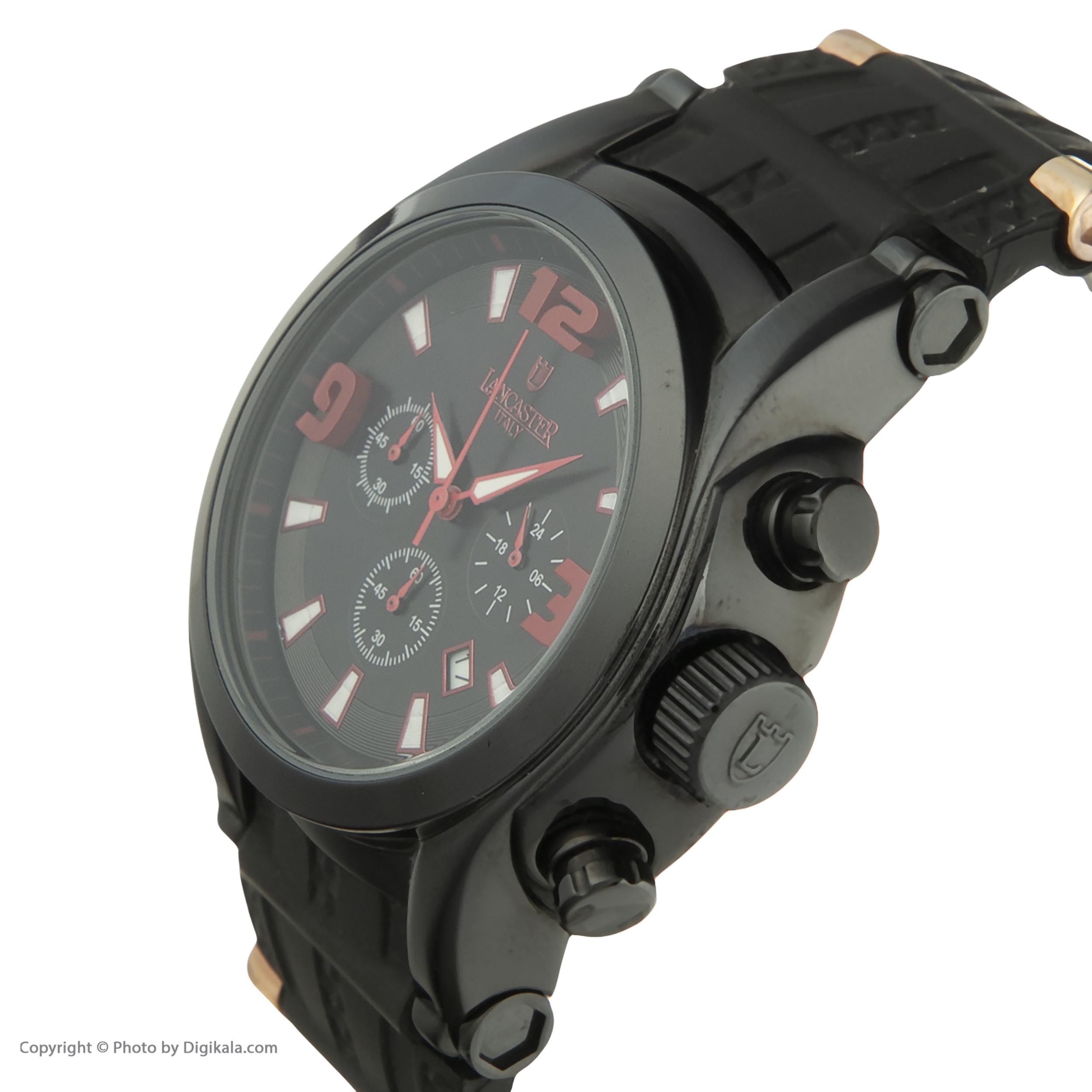 ساعت مچی عقربه ای مردانه لنکستر مدل 548BKNRRSNR کد 46