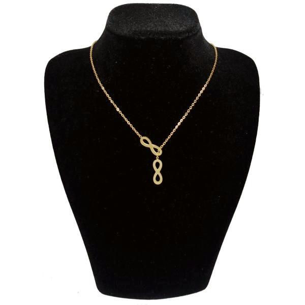 گردنبند طلا 18 عیار زنانه طرح بینهایت کد UN0151