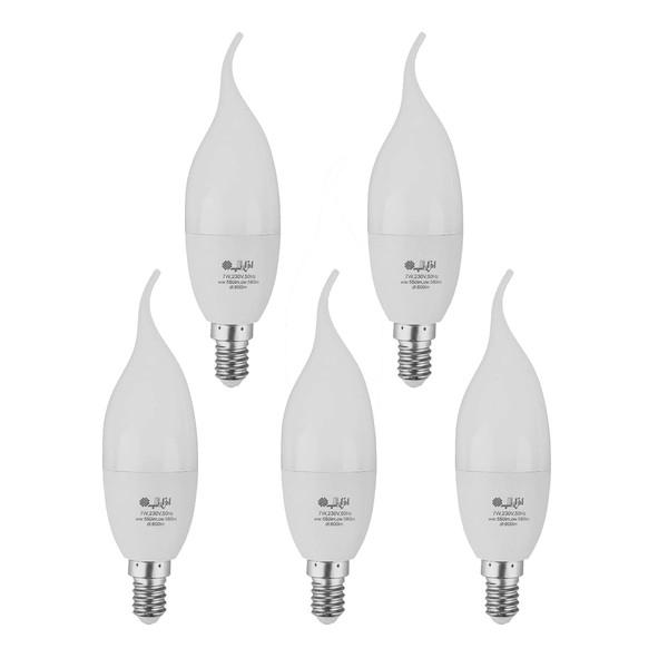 لامپ ال ای دی 7 وات افراتاب مدل AF-TC37-7W پایه E14  بسته 5 عددی