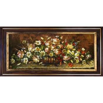تابلو فرش دستبافت طرح گل کد 1737