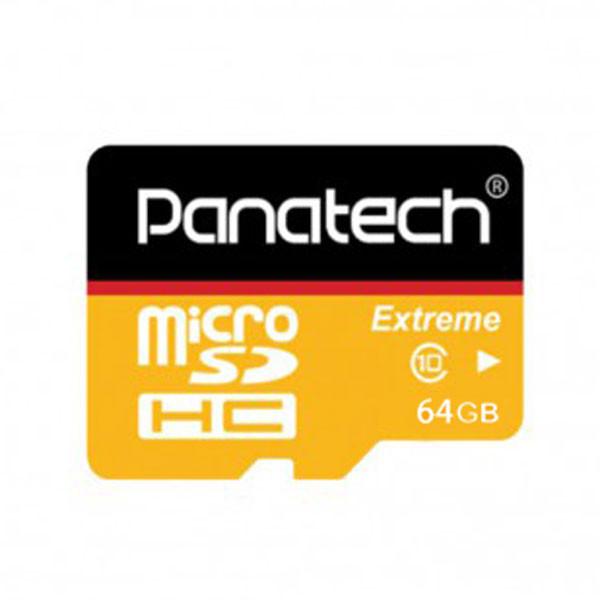 کارت حافظه microSDHC پاناتک مدل Extreme کلاس 10 استاندارد UHS-I U1 سرعت 30MBps ظرفیت 64 گیگابایت