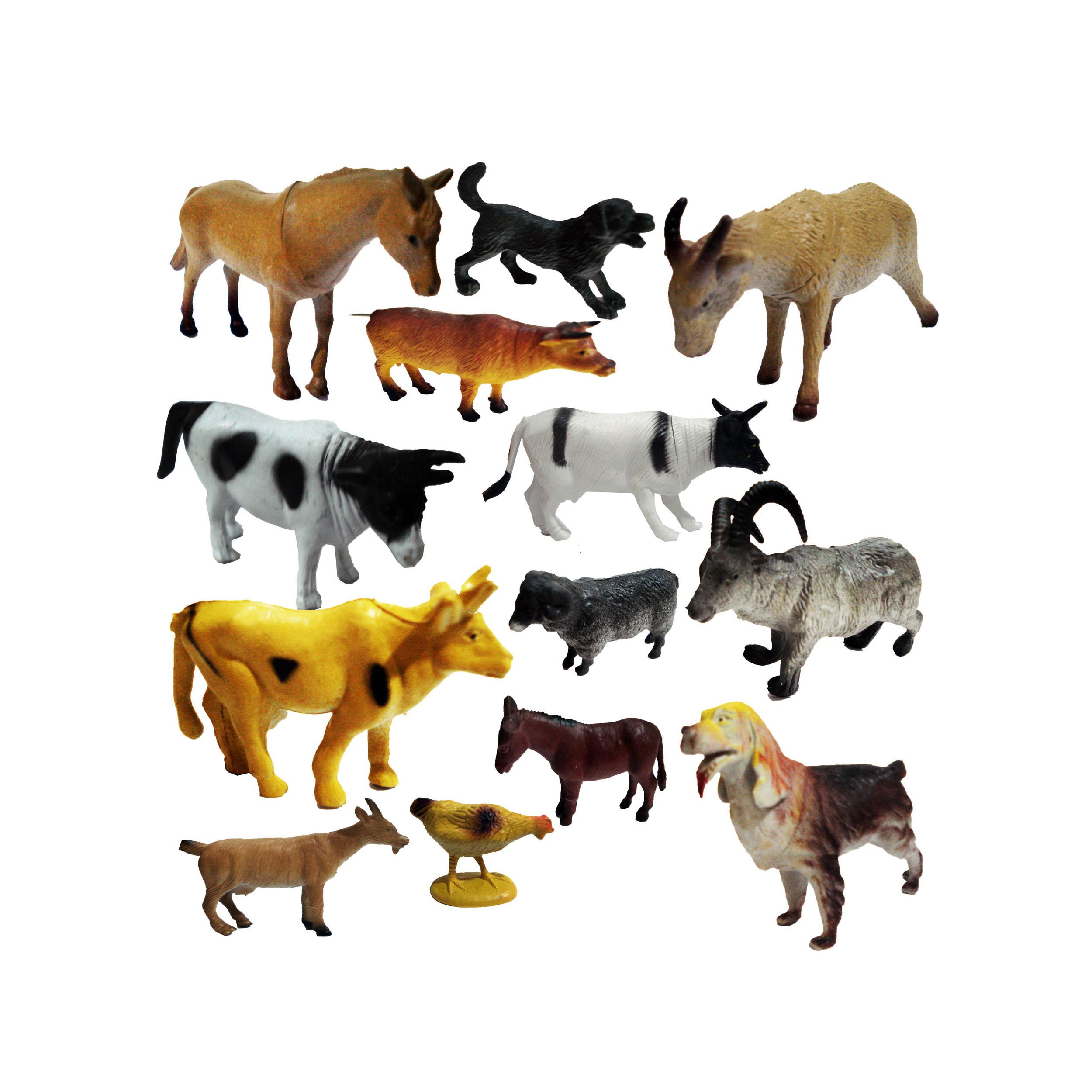 فیگور حیوانات مدل FARM SET مجموعه 13 عددی