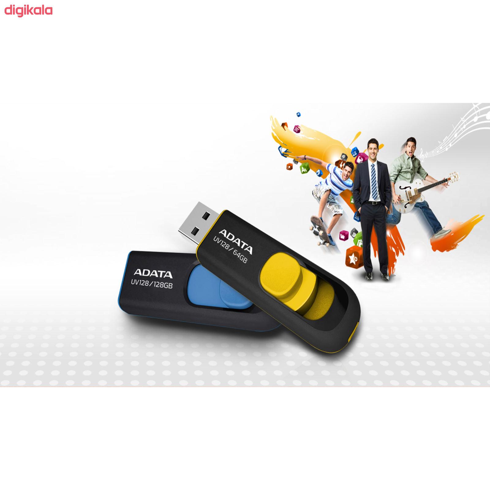 فلش مموری ای دیتا مدل DashDrive UV128 ظرفیت 64 گیگابایت main 1 1