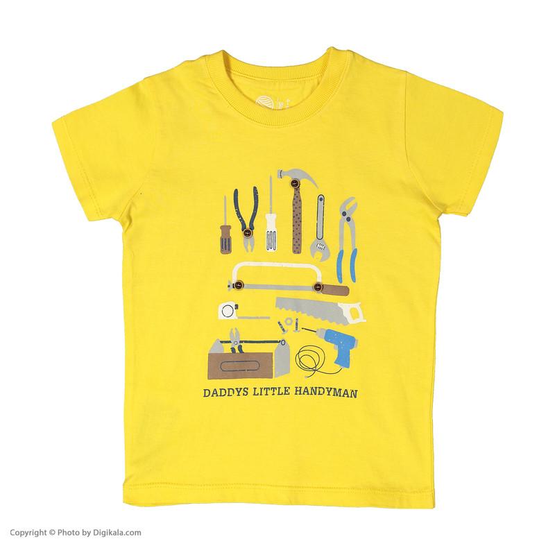 ست تی شرت و شلوارک پسرانه سون پون مدل 1391244-19