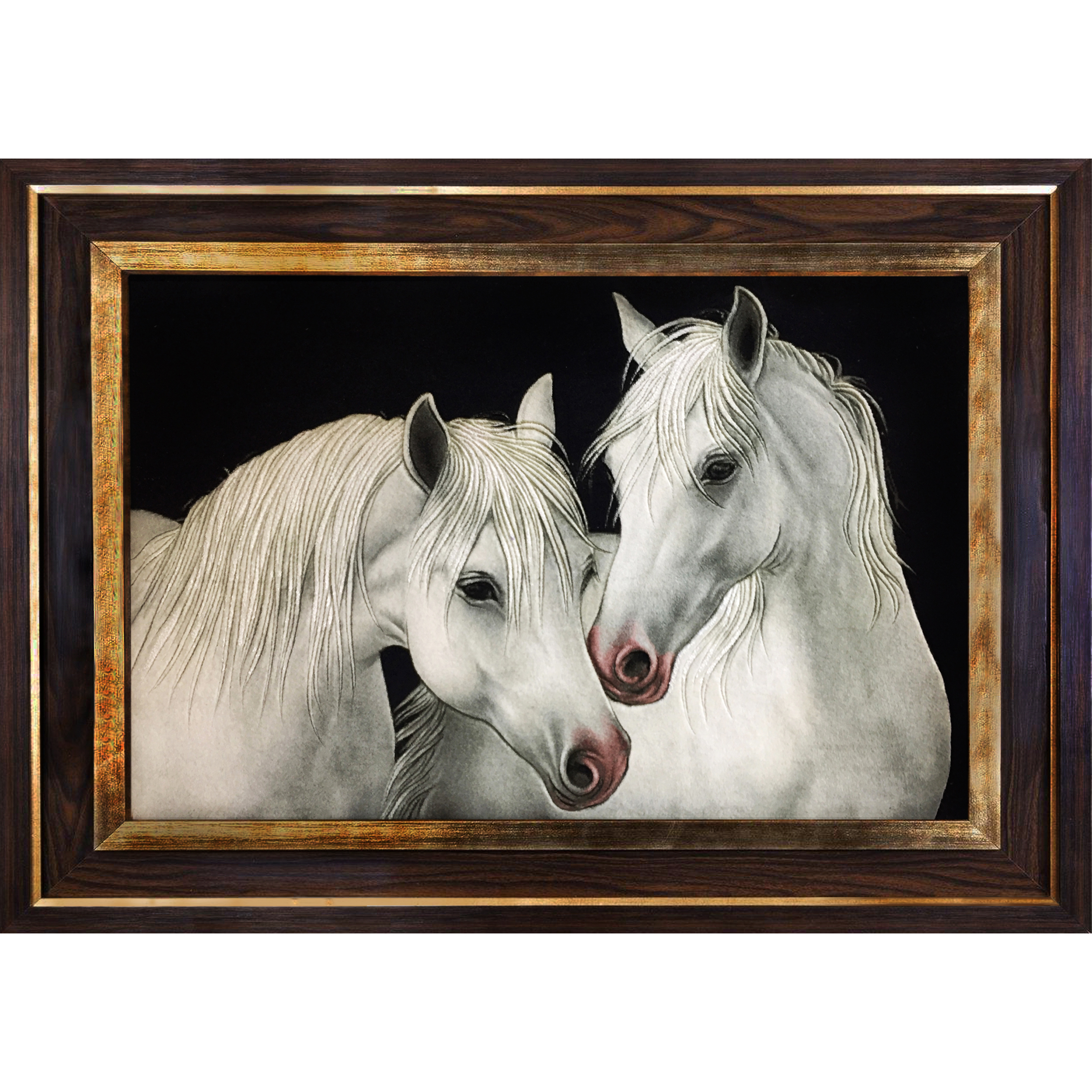 خرید                       تابلو فرش دستبافت طرح اسب کد 1736