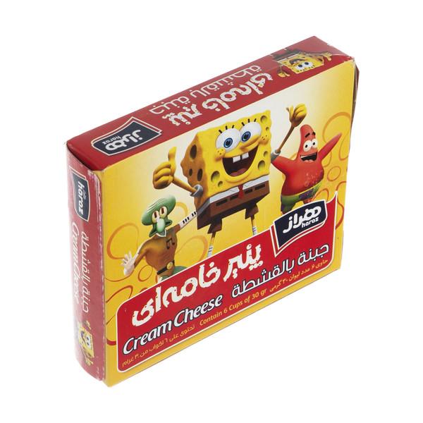 پنیر خامه ای هراز -30 گرم بسته 6 عددی