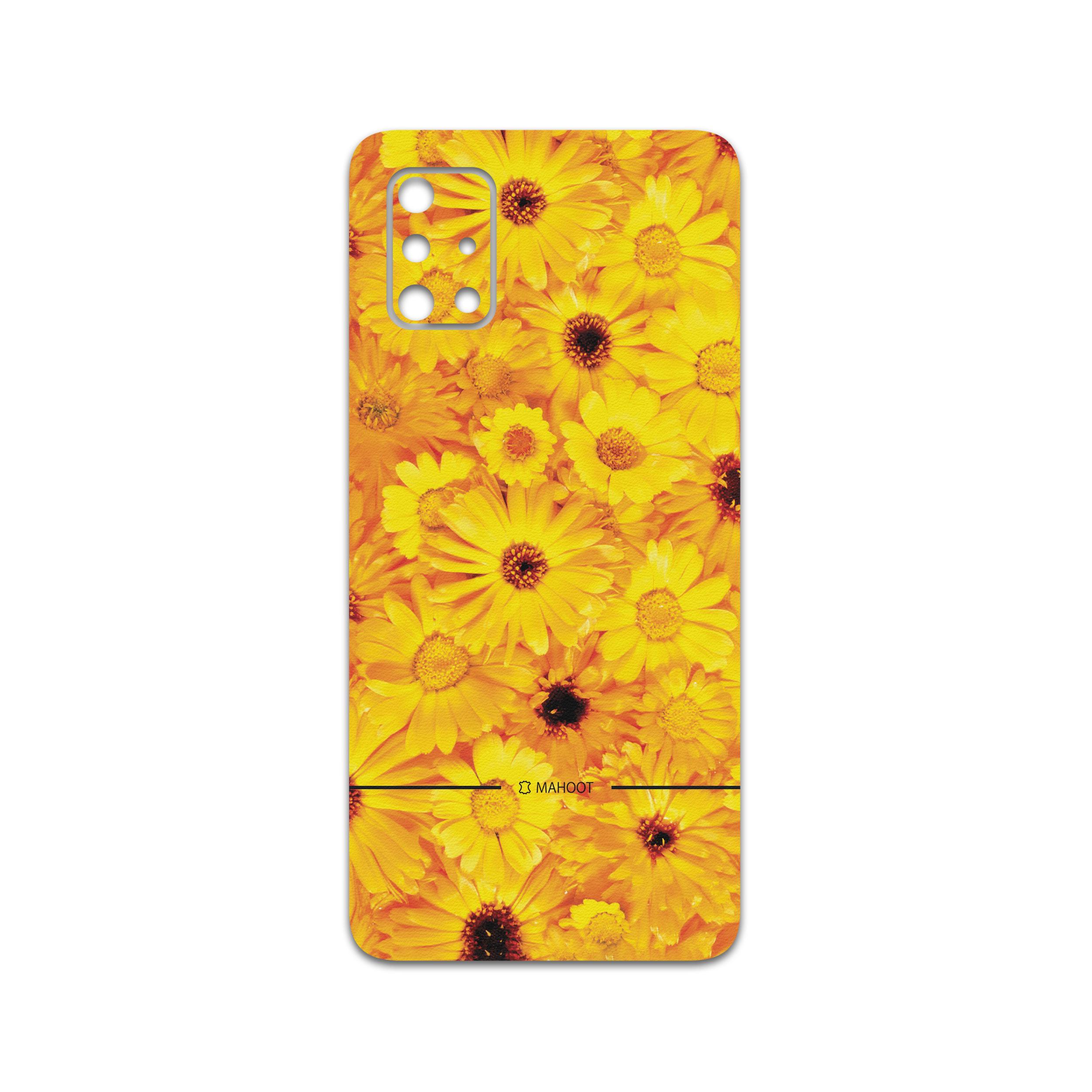 برچسب پوششی ماهوت مدل Yellow-Flower مناسب برای گوشی موبایل سامسونگ Galaxy A71