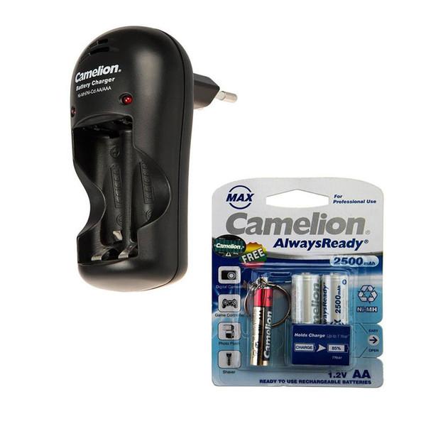 شارژر باتری کملیون مدل BC-1009 به همراه 2 عددی باتری قلمی