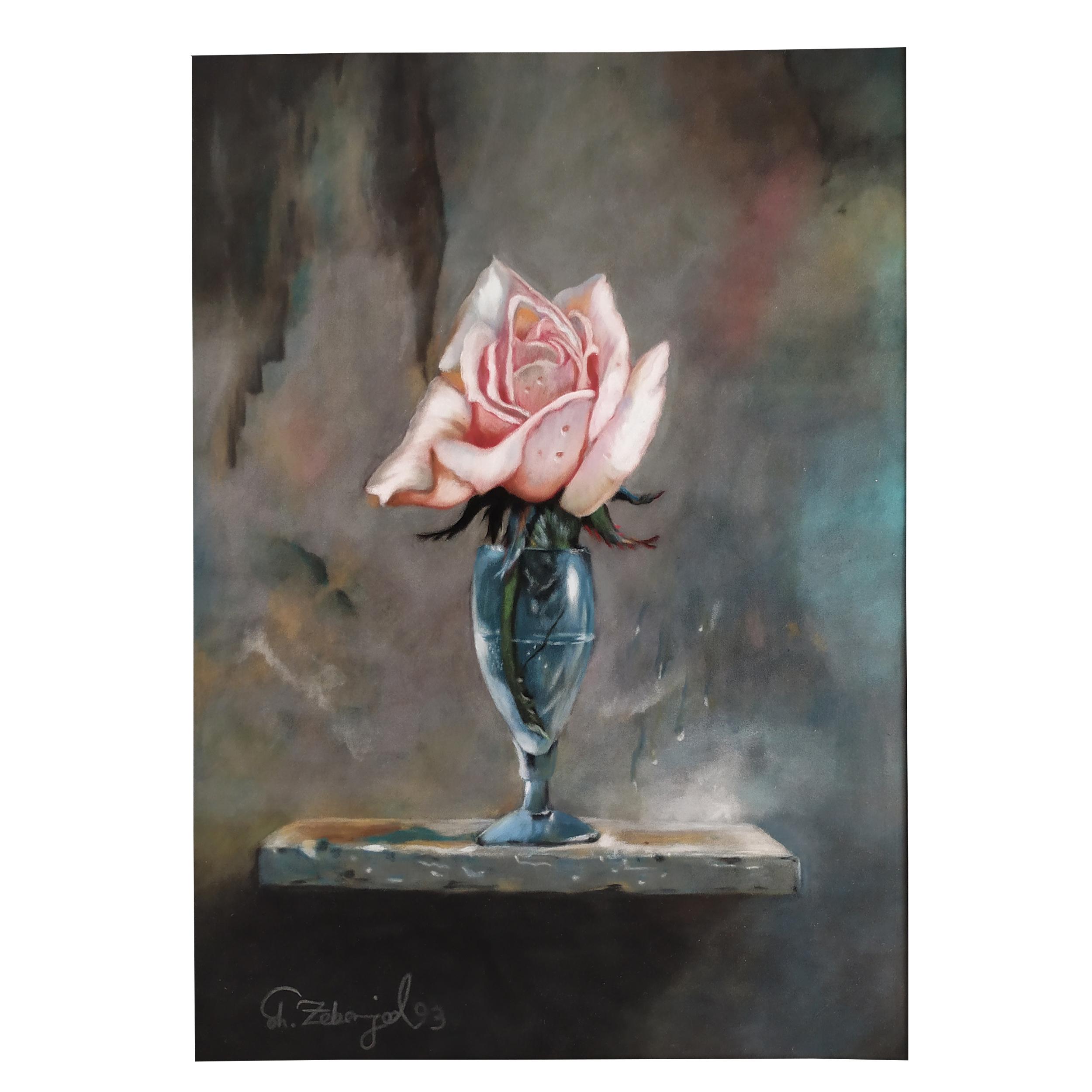 خرید                      تابلو نقاشی پاستل طرح گل