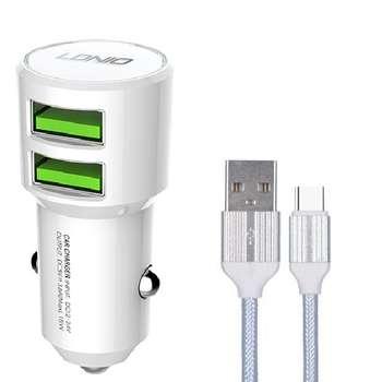 شارژر فندکی الدینیو مدل C309 به همراه کابل تبدیل USB-C