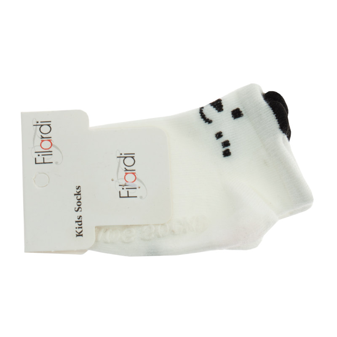 جوراب نوزاد فیلاردی مدل Dog2 رنگ سفید