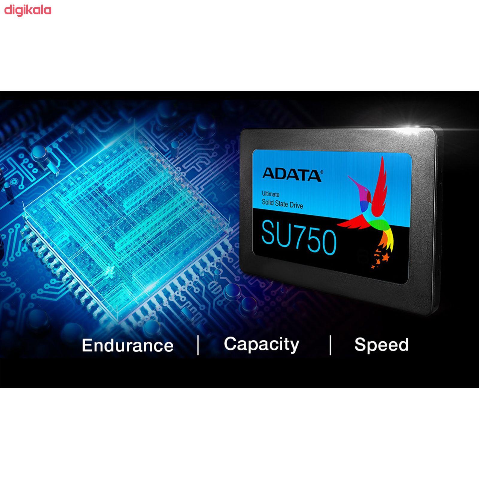 اس اس دی اینترنال ای دیتا مدل SU750 ظرفیت 256 گیگابایت main 1 6