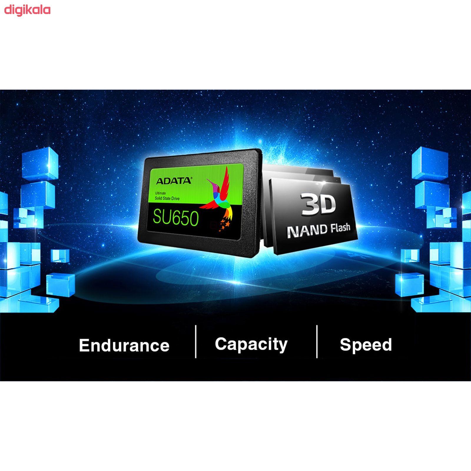 اس اس دی ای دیتا مدل SU650 ظرفیت 480 گیگابایت main 1 1