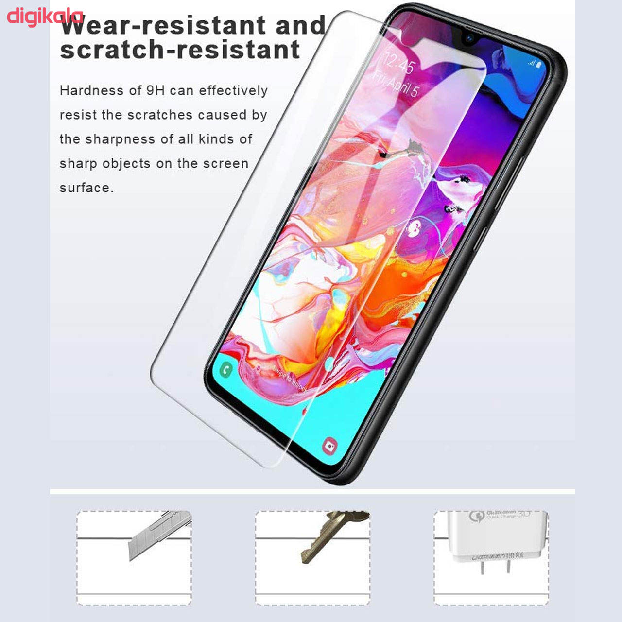 محافظ صفحه نمایش هورس مدل UCC مناسب برای گوشی موبایل سامسونگ Galaxy A70 بسته دو عددی main 1 5