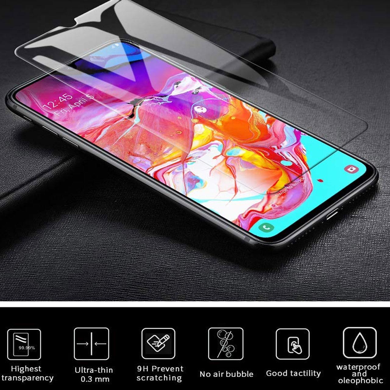محافظ صفحه نمایش هورس مدل UCC مناسب برای گوشی موبایل سامسونگ Galaxy A70 بسته دو عددی main 1 8
