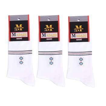 جوراب مردانه طرح لوزی مجموعه 3 عددی